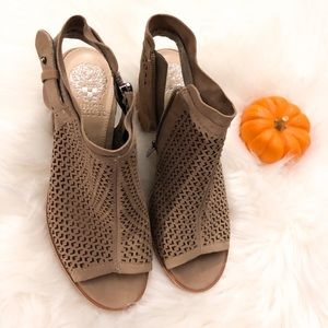 Vince Camuto Size 6 open toe booties